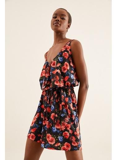 Quincey Geniş Kesim Kemerli Elbise Renkli